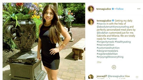 Image of Caption: Teresa Giudice daughter Milania Giudice ready for summer