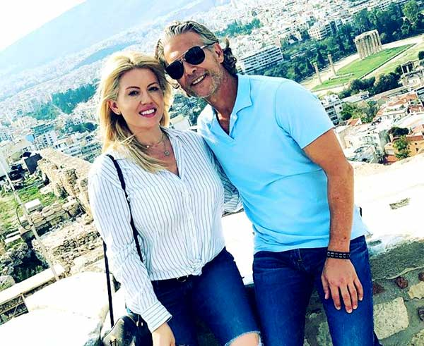 Image of Caption: David Beador with his girlfriend Lesley Cook