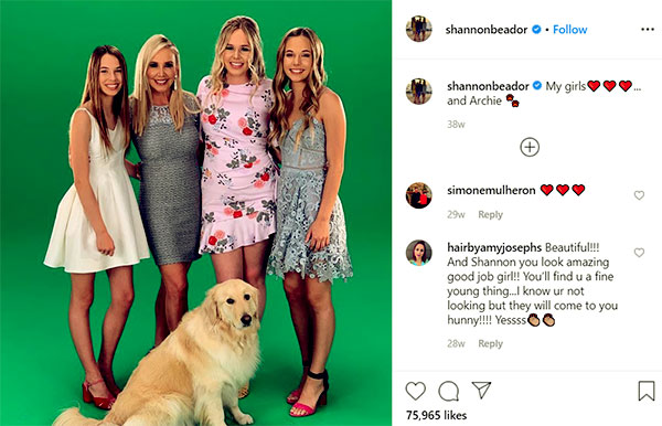 Image of Caption: David Beador ex-wife Shannon Beador with their kids and Archie