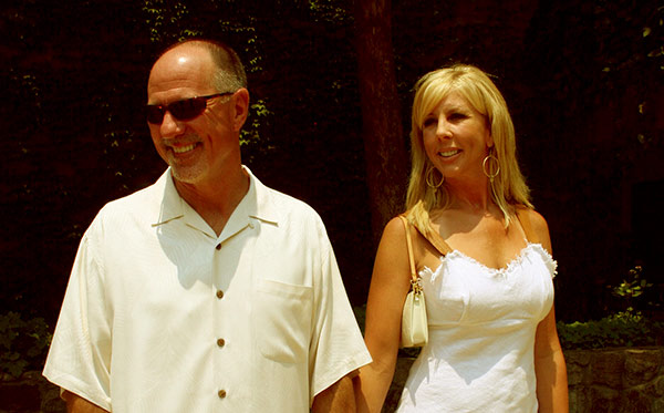 Image of Caption: Donn Gunvalson with his ex-wife Vicki Gunvalson