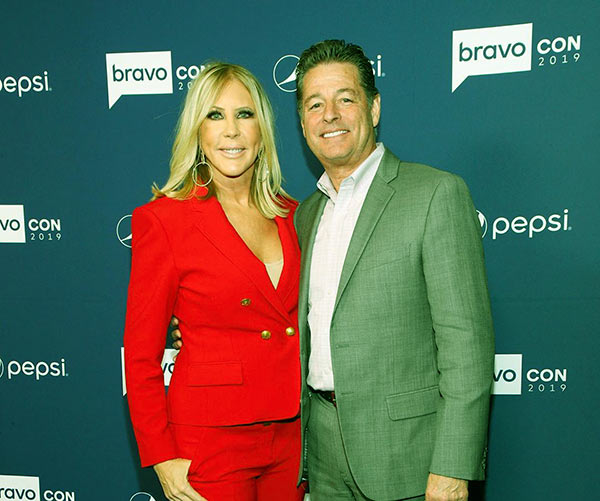 Image of Caption: Vicki Gunvalson with her boyfriend Steve Lodge