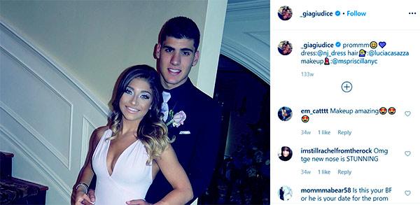Image of Caption: Gia Giudice with her high school boyfriend, Nick Recchia