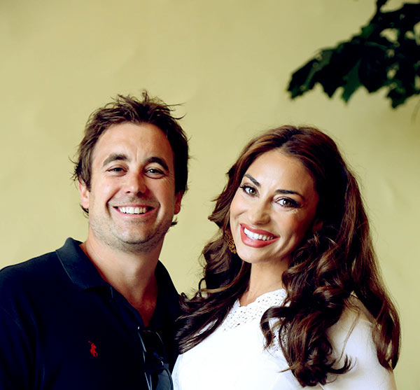 Image of Caption: Christian Rovsek with his ex-wife Lizzie Rovsek