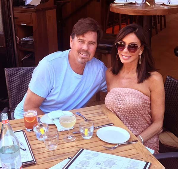 Image of Caption: Danielle Staub with her husband Marty Caffery