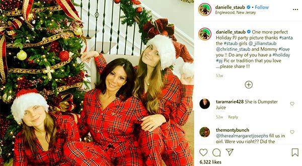 Image of Caption: Danielle Staub with her daughters Jillian Staub and Christine Staub