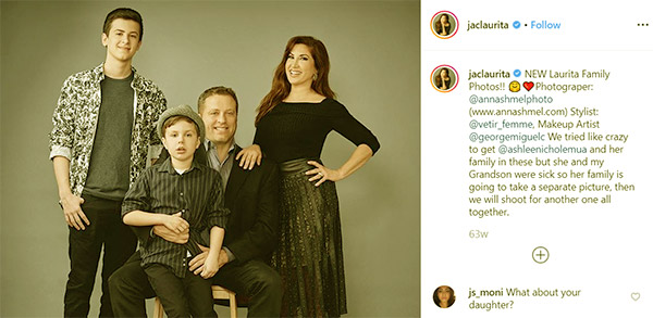 Image of Caption: Jacqueline Laurita with her husband Chris Laurita and with their kids CJ. and Nicholas Laurita