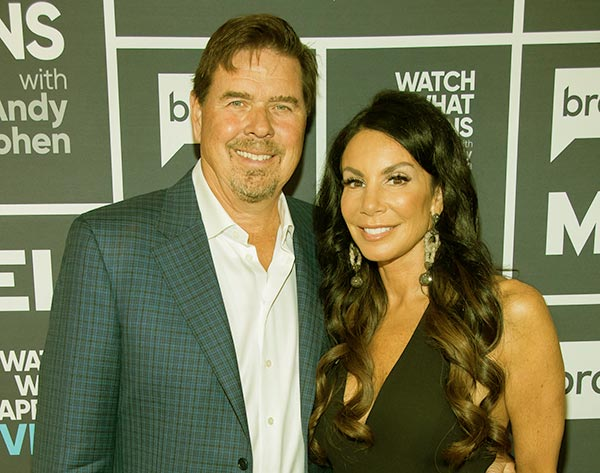 Image of Caption: Marty Caffrey with his ex-wife Danielle Staub