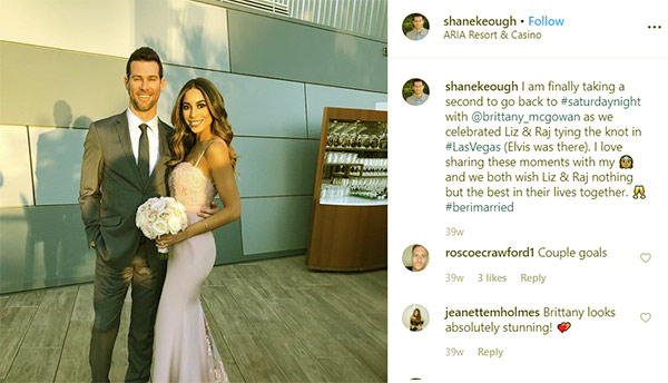 Image of Caption: Shane Keough with his girlfriend Brittany McGowan