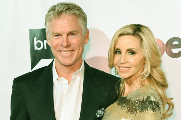 Image of David C. Meyer walked down the aisle with Camille Grammer in 2018