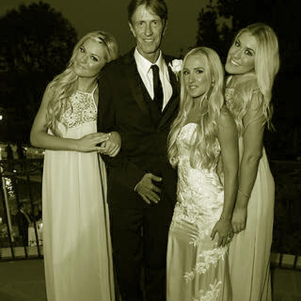 Image of Monty Brinson attended the wedding of his oldest daughter, Brooke and Madelyn and Allie became bridesmaids