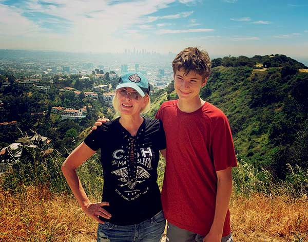Image of Van Patten and Eileen Davidson, son, Jesse Thomas went on hiking in April 2019